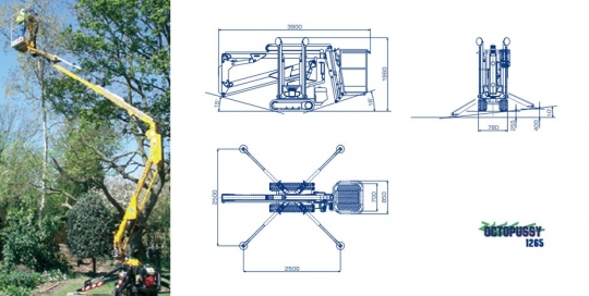 Octopussy 12.65 Self Propelled Tracked Access Boom Lift